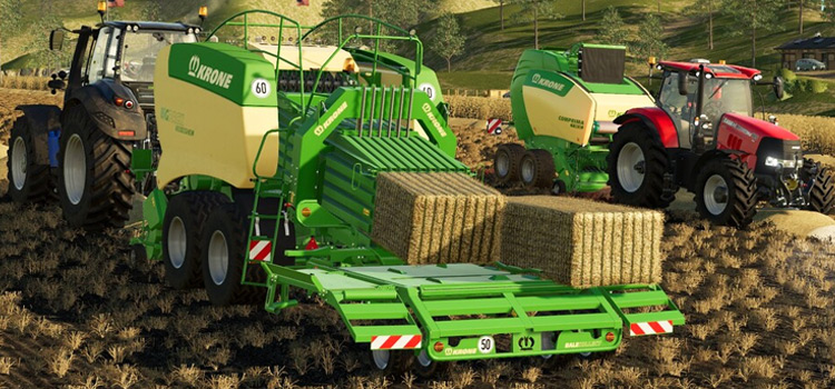 Straw Addon Baler Mod for Farming Simulator 19