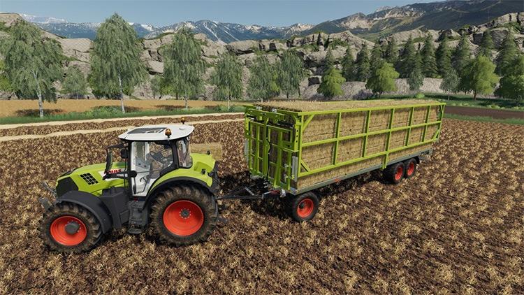 Fliegl DPW 180/210 Bales-Autoload FS19 Mod