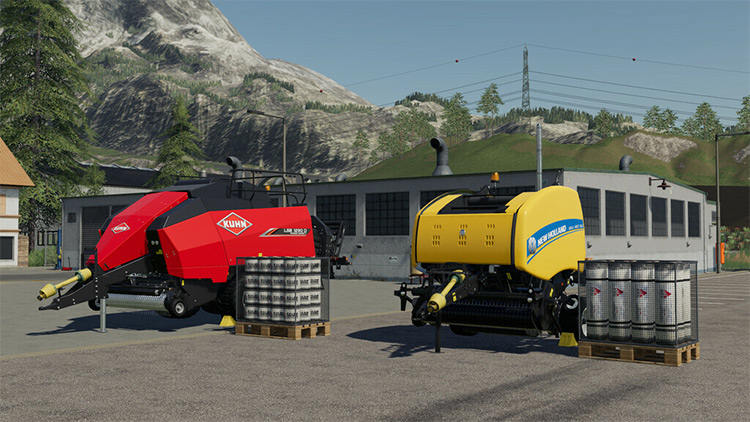 Baler Addon Farming Simulator 19 Mod