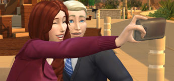 Sims Selfie with Smartphone