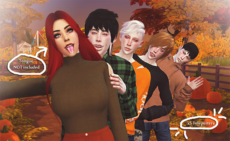 Windmill Pose Pack by Sims.Babe for Sims 4