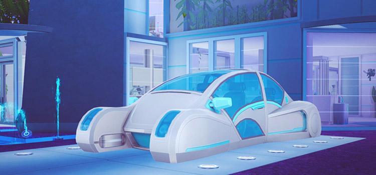 Sims 4 Futuristic Car Design as Custom Content