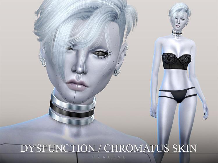Dysfunction Chromatus Skin by Pralinesims for Sims 4