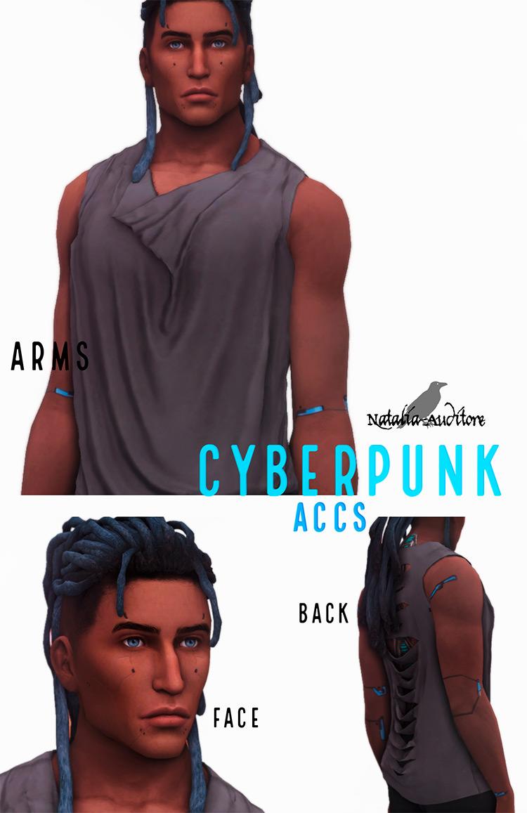 Cyberpunk Accs by Natalia-Auditore TS4 CC