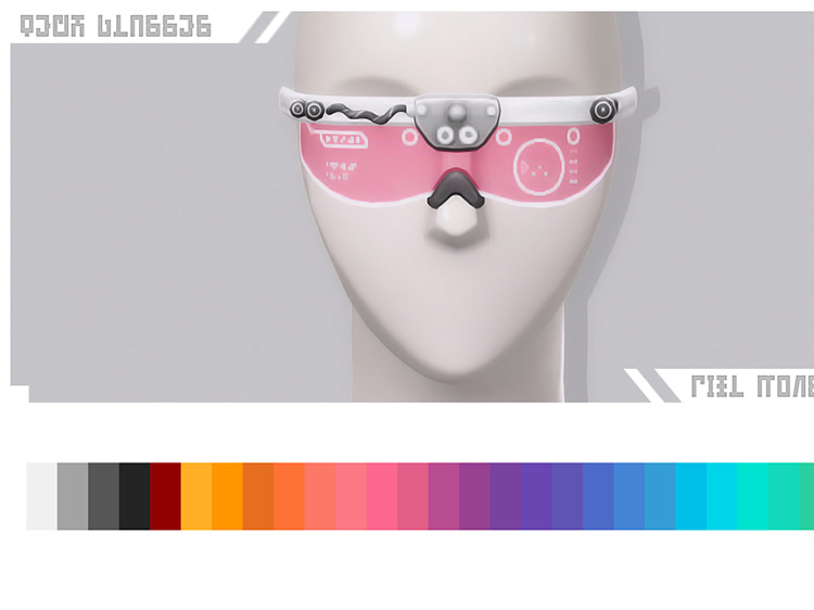 Discover University: Tech Glasses by pixl monster Sims 4 CC