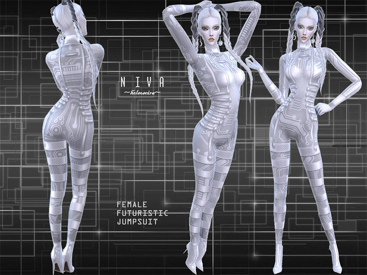 [FIXED!] NIVA – Jumpsuit by Helsoseira Sims 4 CC
