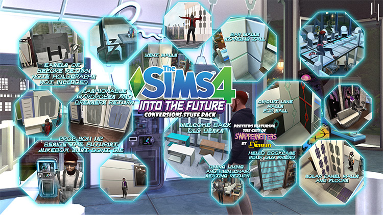 The Sims 4 Into the Future Conversions Stuff Pack by BulldozerIvan TS4 CC