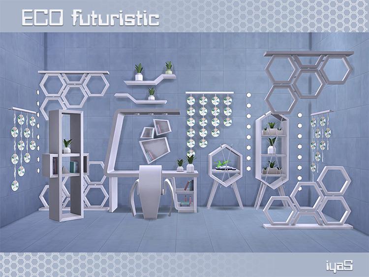 Eco Futuristic Set by soloriya Sims 4 CC
