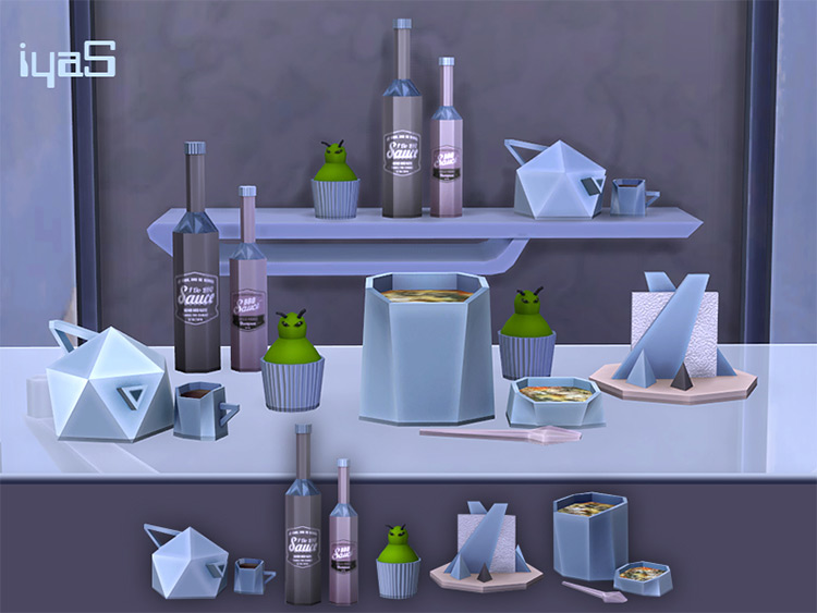 Facet Geometric Kitchen Set by soloriya TS4 CC