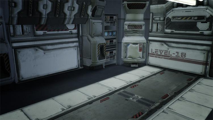Sci-Fi Corridor by Mimoto-sims TS4 CC