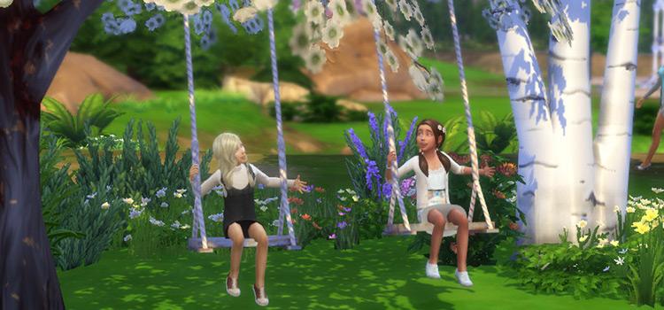 Little Kids on Swings in The Sims 4