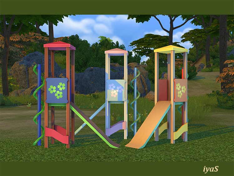 Kids House with Slide Sims 4 CC