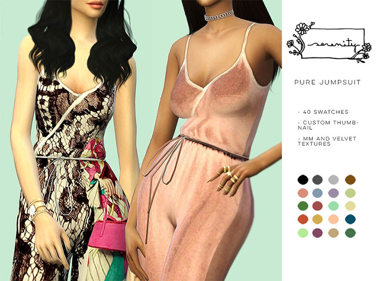 Pure Jumpsuit for Sims 4