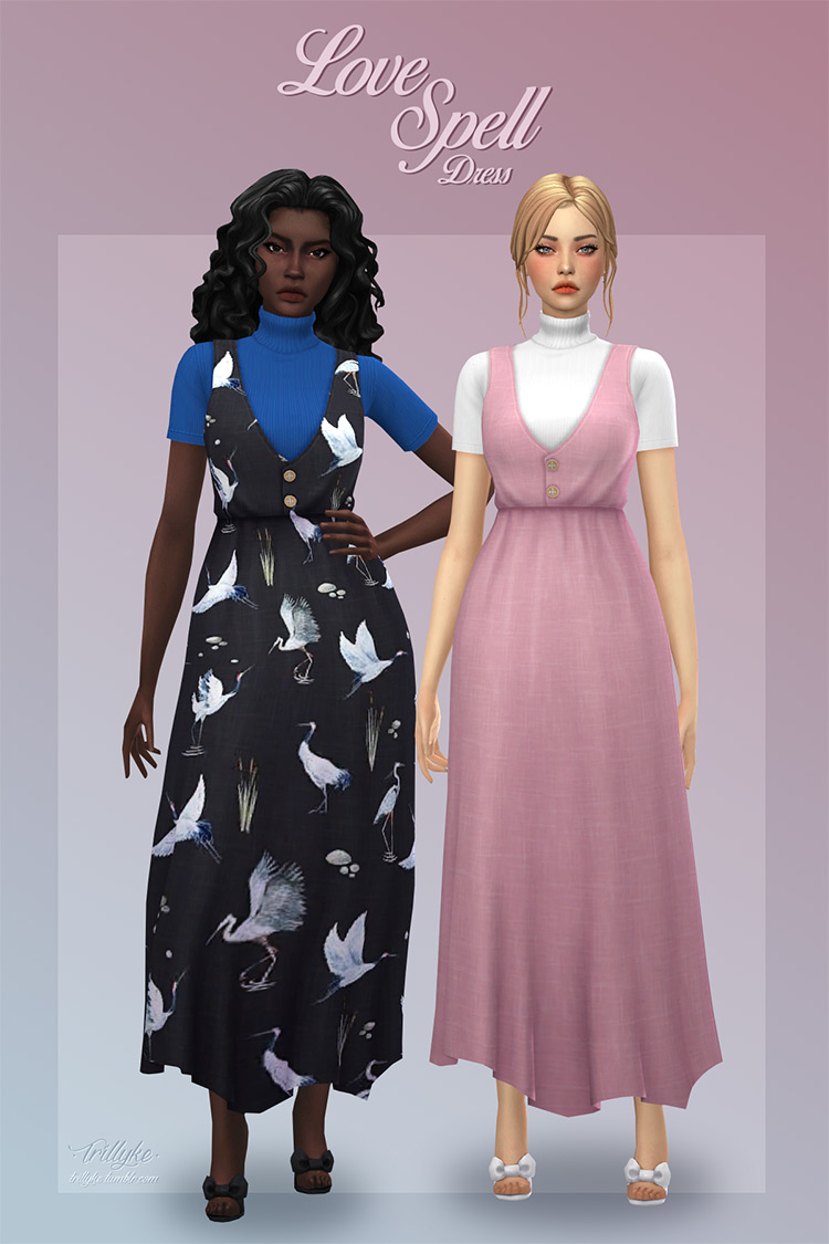Love Spell Dress for Sims 4