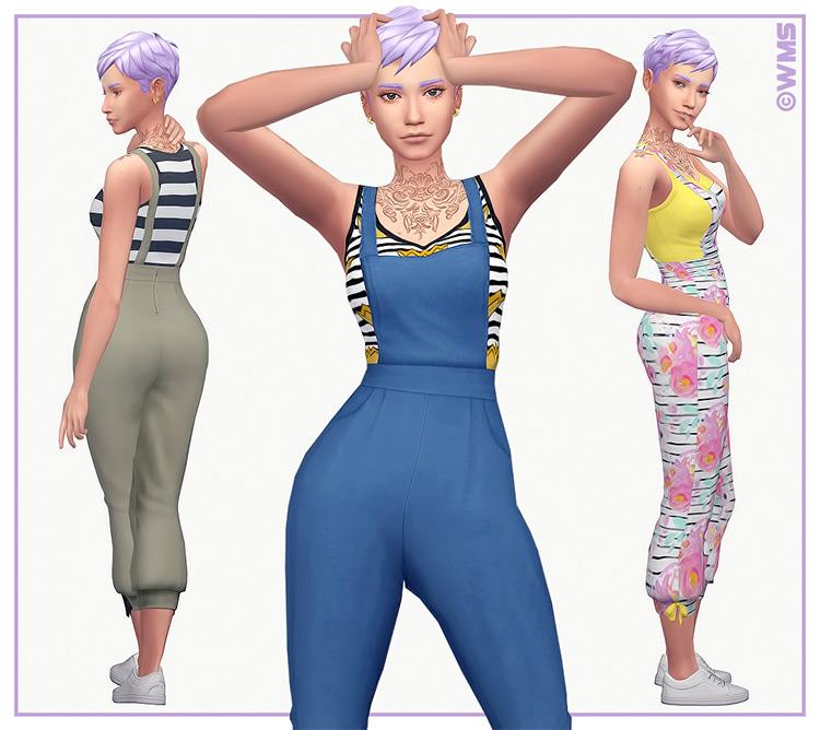 Jamie Overalls V1 Sims 4 CC