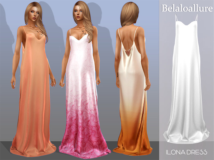 Ilona Dress Sims 4 CC