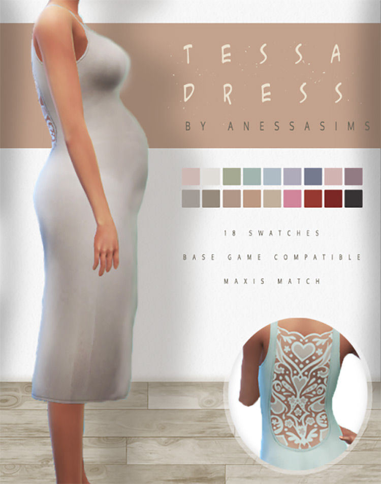 Tessa Dress for Sims 4