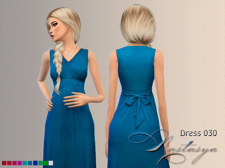 Dress Maternity Sleeveless Maxi Sims 4 CC