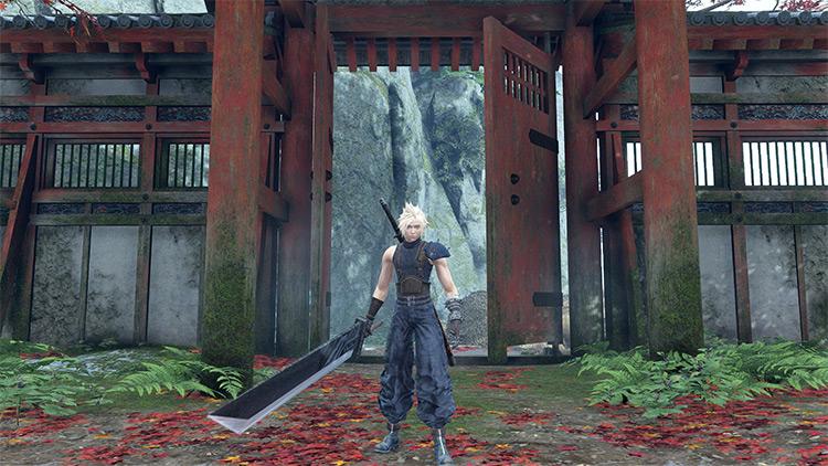 Cloud Strife from FF7 Remake Sekiro: Shadows Die Twice Mod