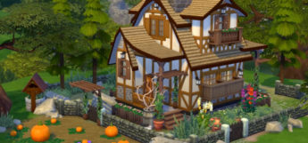 Pumpkin Cottage Design in The Sims 4
