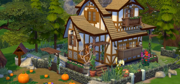 Cute Cottage House Lots For The Sims 4 (All Free)
