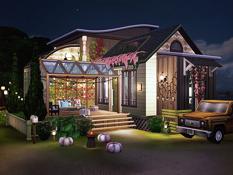Gino Boho Cottage for The Sims 4