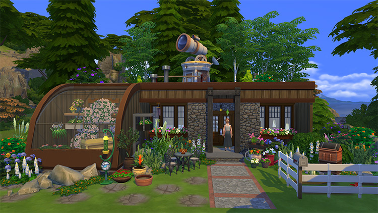 The Berm Cottage in Sims 4