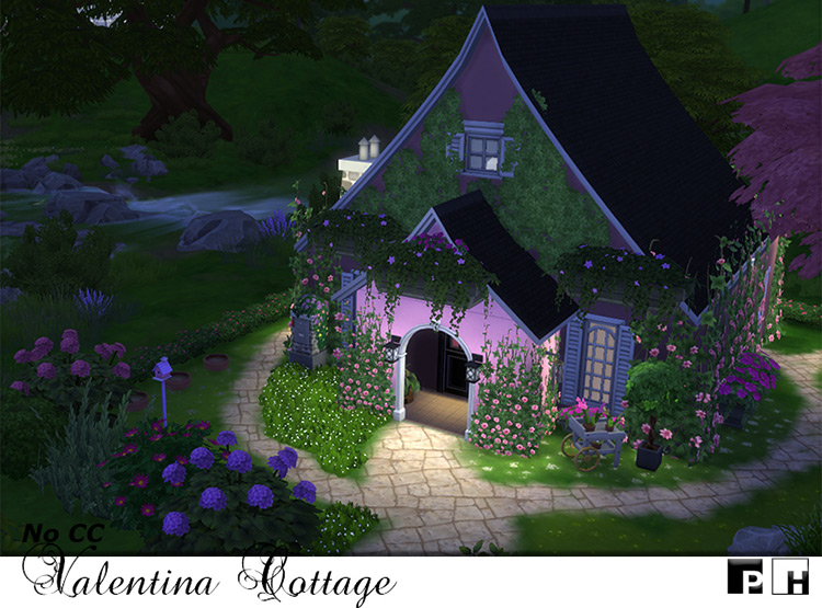 Valentina Cottage Lot for The Sims 4