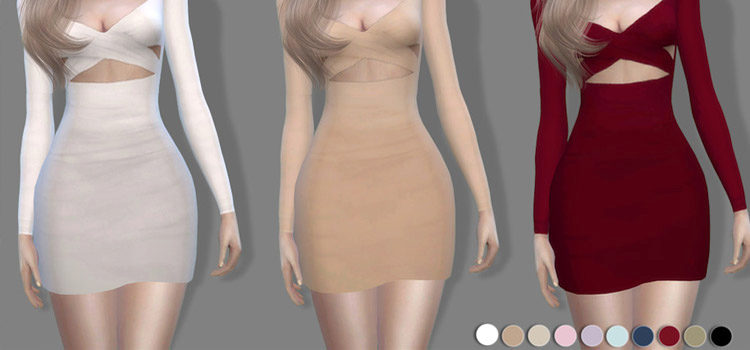 Sims 4 Mini Dresses & Short Dresses (Free CC + Mods)
