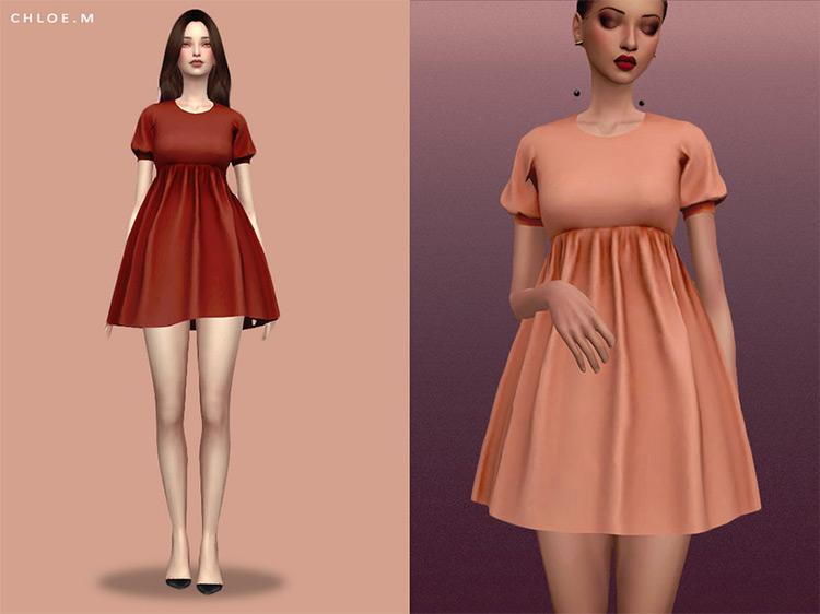 Short Dress Sims 4 CC