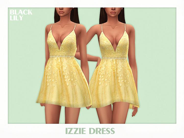 Izzie Dress Sims 4 CC