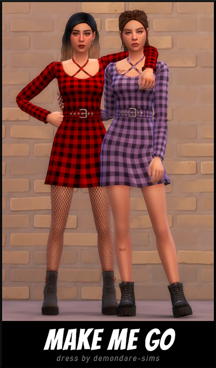 Make Me Go Dress TS4 CC