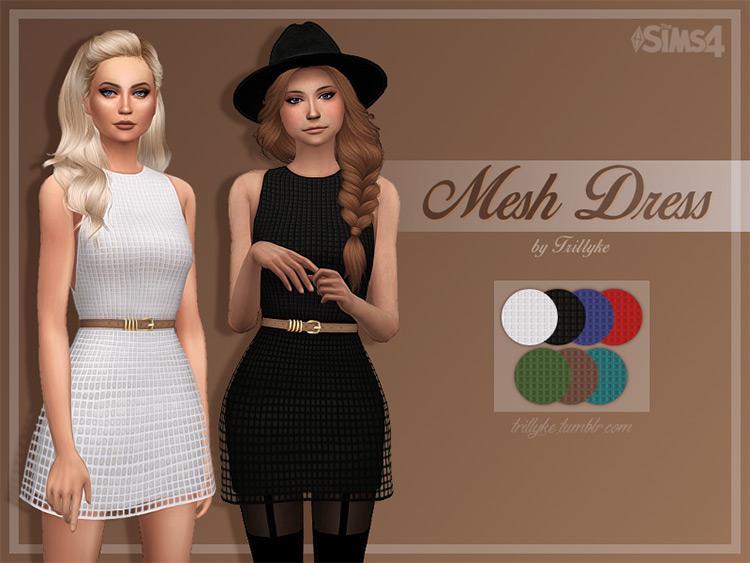 Mesh Dress Sims 4 CC