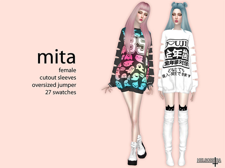 MITA Cut-out Sleeves Top TS4 CC
