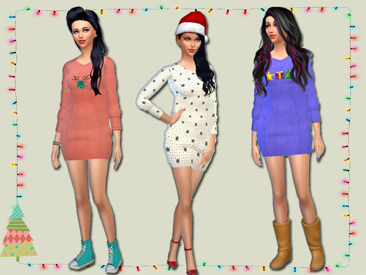 Oversized Christmas Sweaters TS4 CC