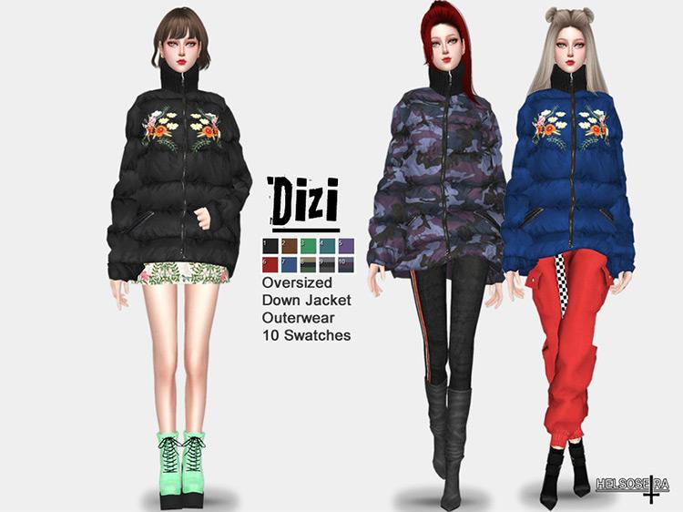 Oversized Jacket for Sims 4