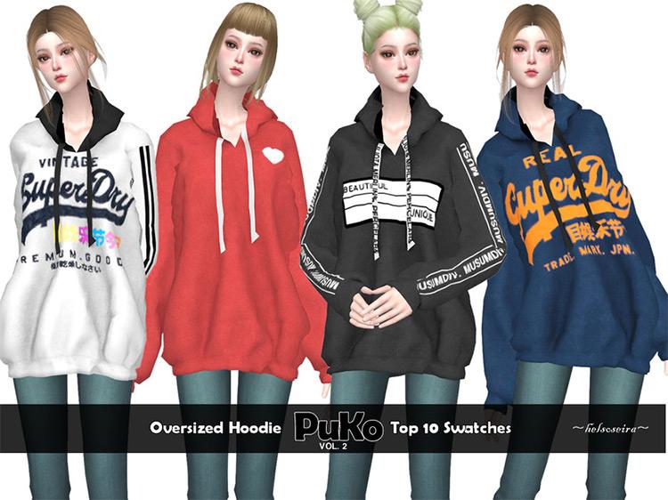 PUKO Oversized Hoodie Sims 4 CC
