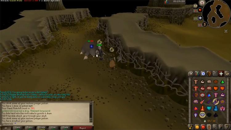 Falador Mole Lair Old School RuneScape Dungeon