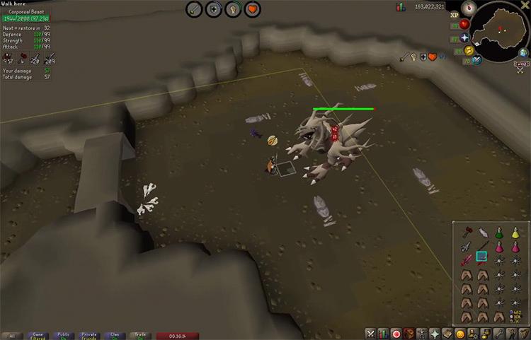 Corporeal Beast OSRS game screenshot