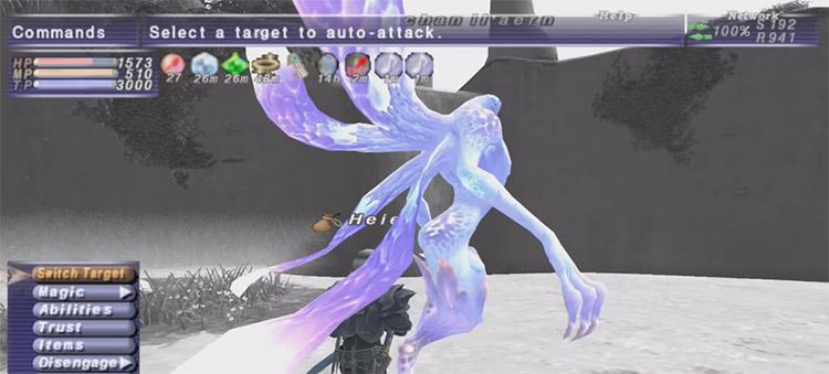 Trusts Battle in FFXI Screenshot