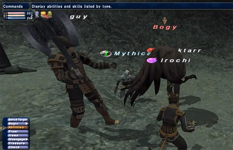 Team battle in Final Fantasy XI