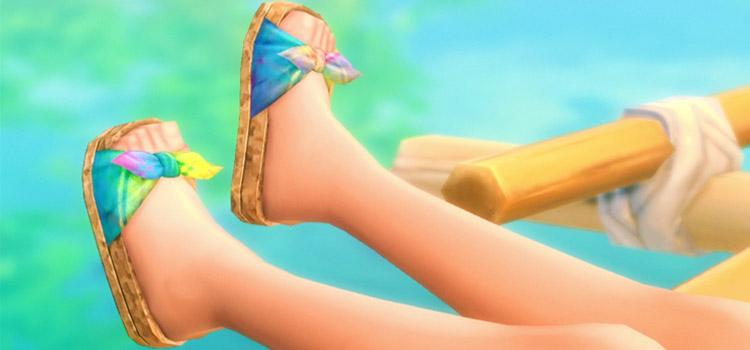 Cork Slide Sandals for Summer - TS4 CC