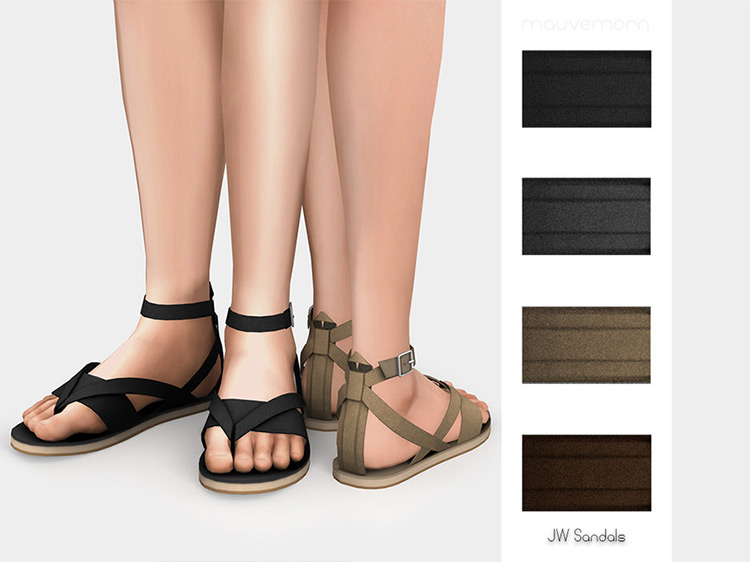 JW Sandals - Sims 4 CC
