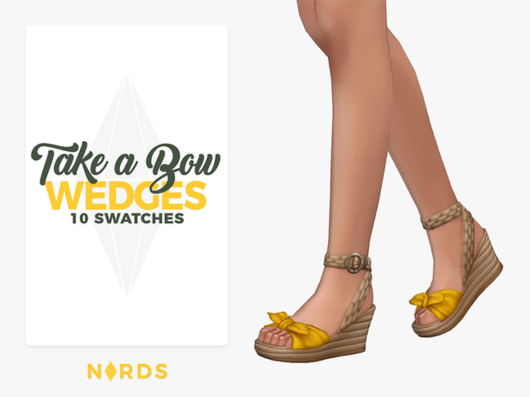 Take a Bow Wedges for The Sims 4