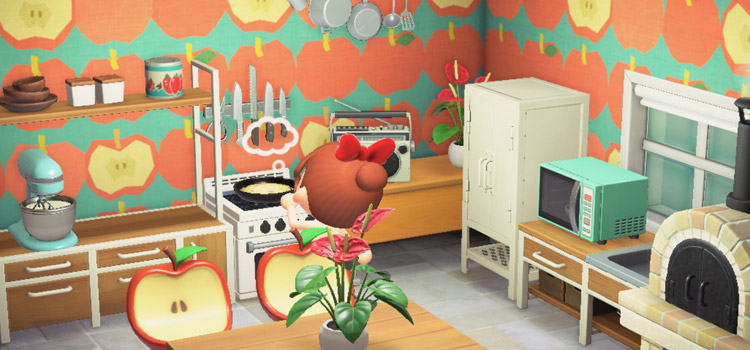 Apple Fruit Kitchen Design in New Horizons