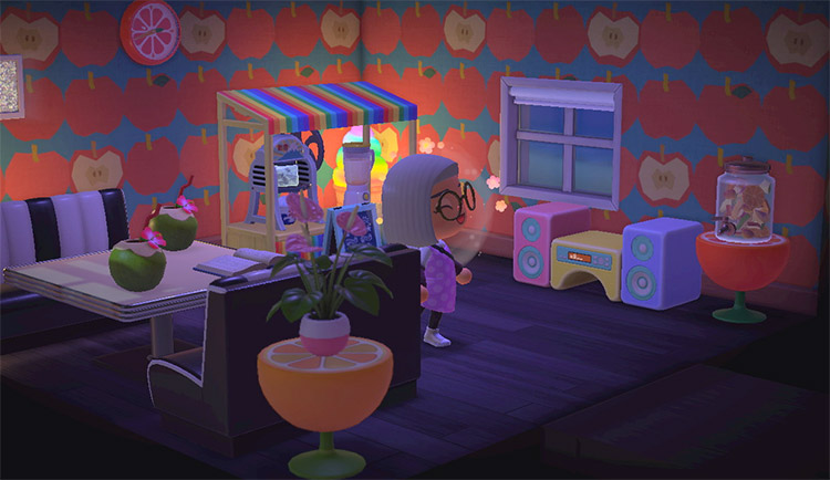 Fruit-themed kitchen and dining room - ACNH Idea
