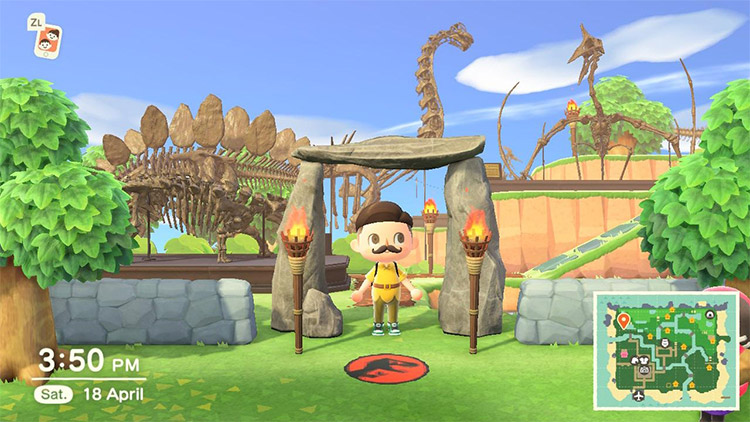 Custom Jurassic Park Idea in Animal Crossing New Horizons