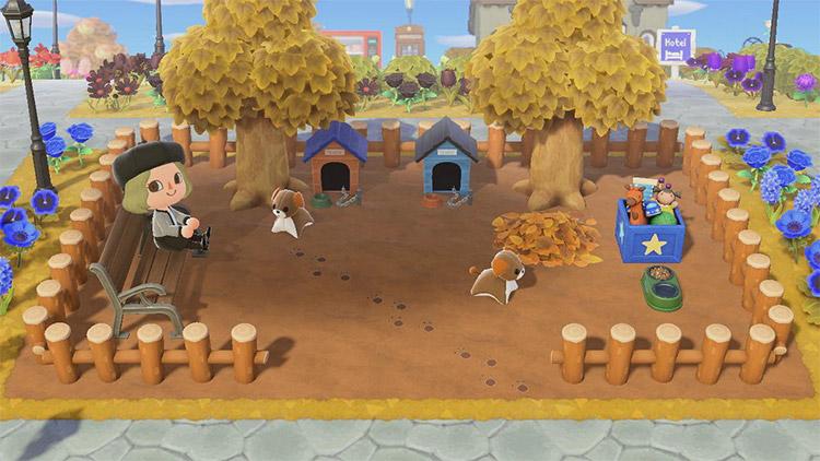 Custom dog park idea for Animal Crossing New Horizons