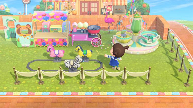 Kidcore amusement park playground idea in ACNH