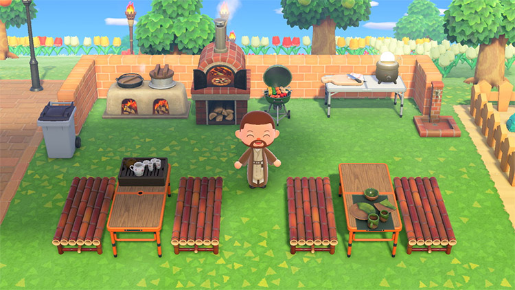 Park cookout design in Animal Crossing New Horizons